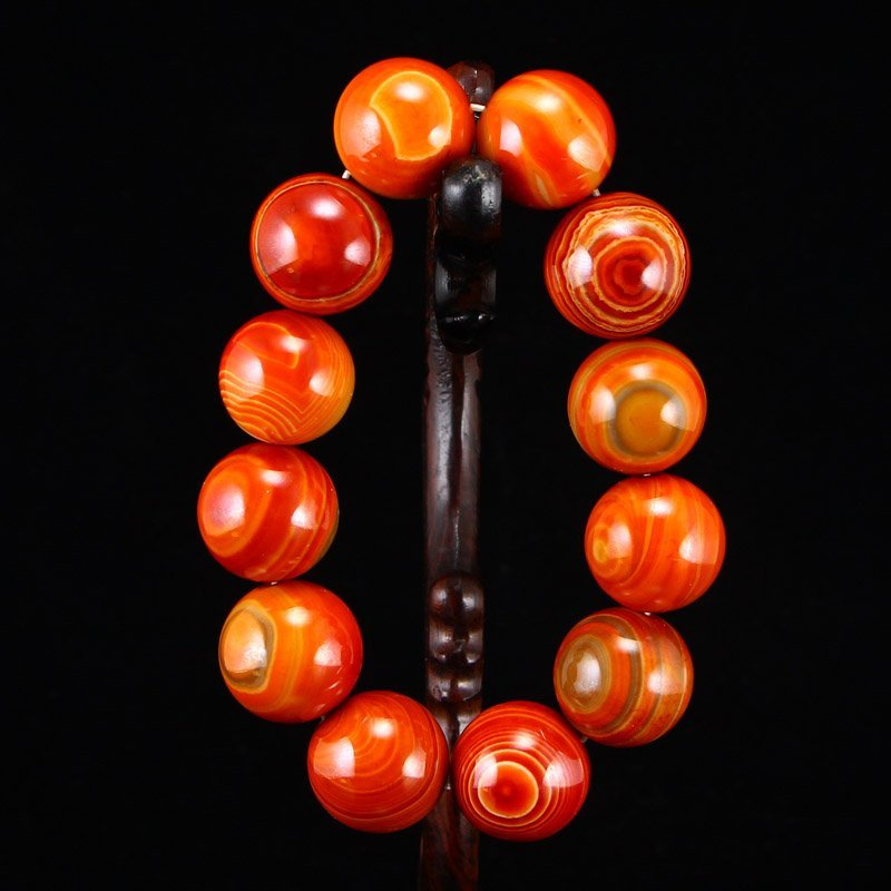 Superb Chinese Natural Agate Beads Bracelet