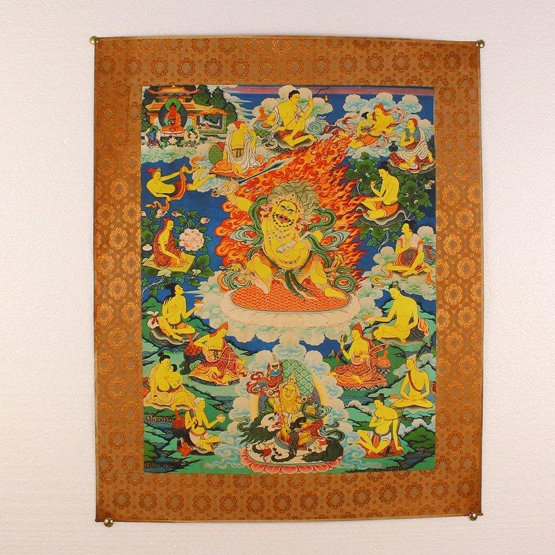 Tibetan Buddhism Kraft Thangka - Yellow Jambhala