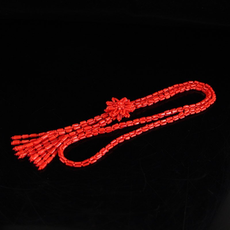 Superb Natural Red Coral Necklace