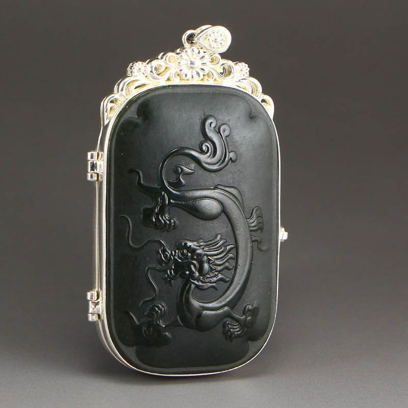 Vintage Chinese Hetian Jade Poetic Prose Paperweight