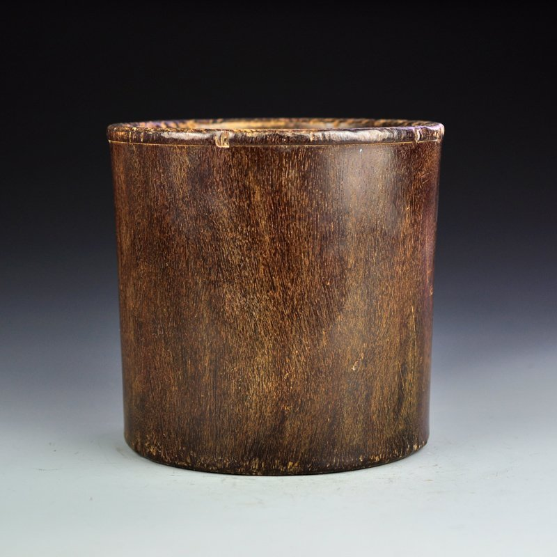 Chinese Qing Dy Zitan Wood Brush Pot
