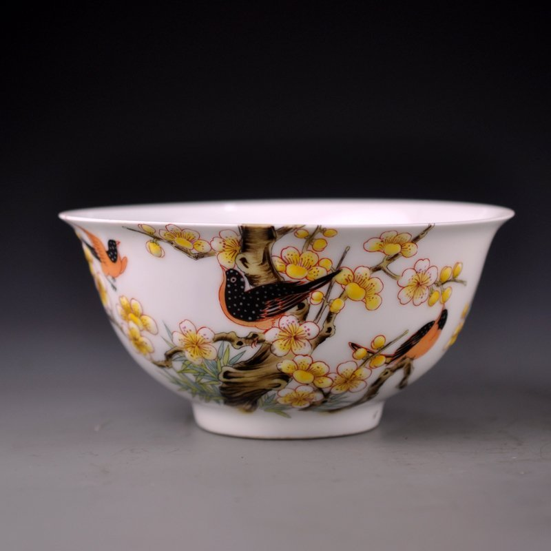 Chinese Famille Rose Porcelain Poetic Prose Bowl