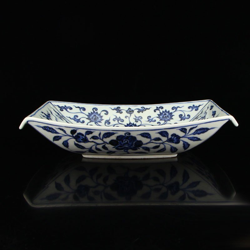 Chinese Blue And White Porcelain Plate - Phoenixes