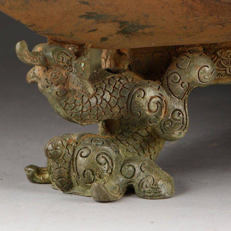 Zhanguo Period Bronze Squareness Pot w Lid & Ladle - 7