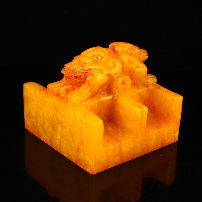 Set Superb Chinese Shoushan Stone Tianhuang Stone Seals - 8