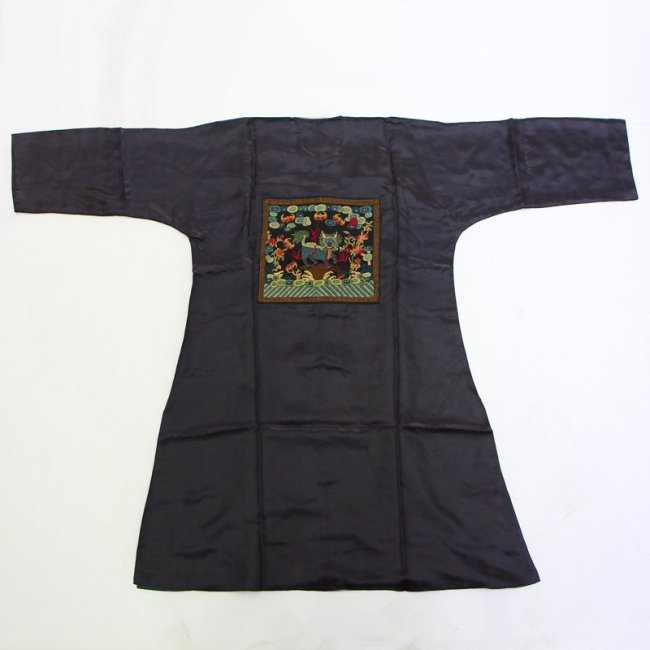 Chinese Qing Dynasty Silk Cloth Official Robe - 2