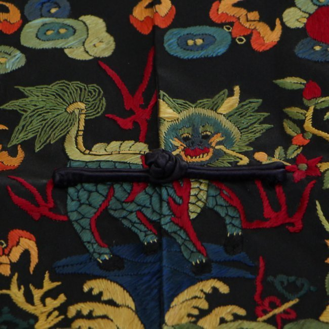 Chinese Qing Dynasty Silk Cloth Official Robe - 5