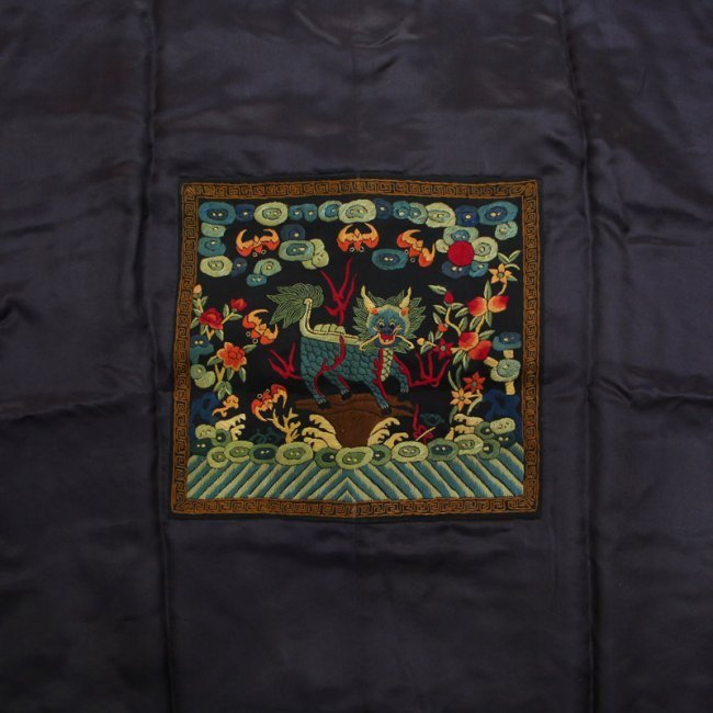 Chinese Qing Dynasty Silk Cloth Official Robe - 8
