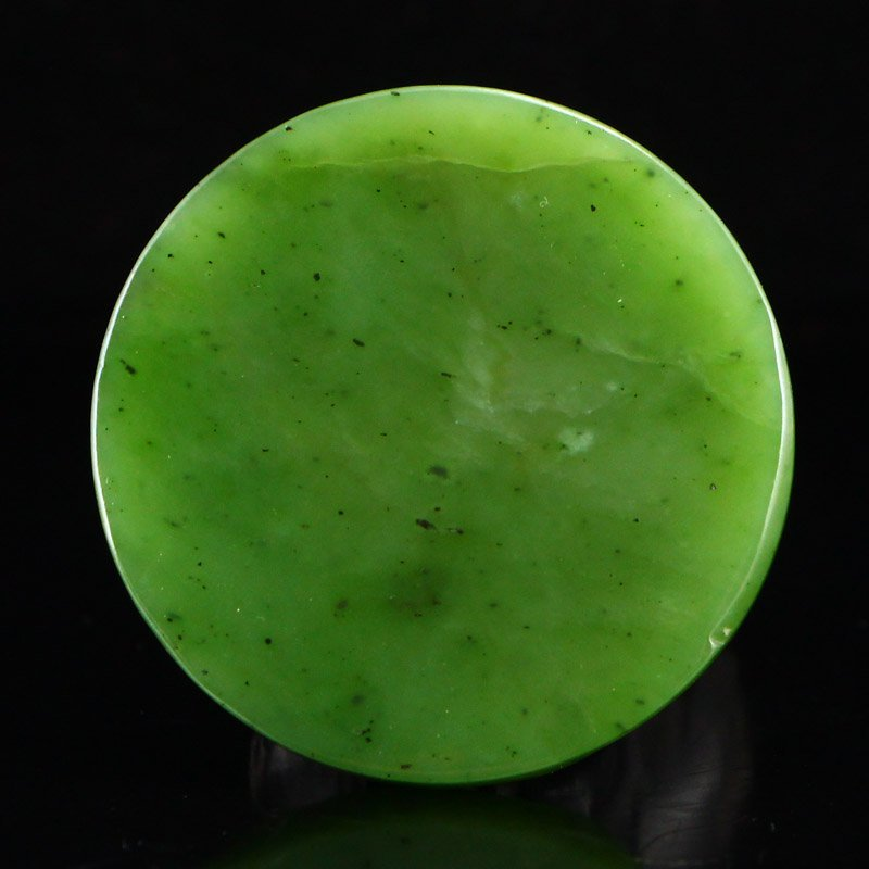 Chinese Natural Green Hetian Jade Double Fish Pendant - 4