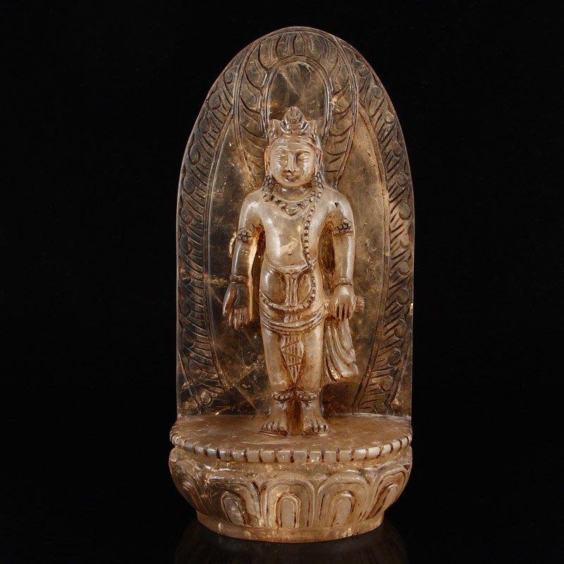 Vintage Tibetan Buddhism Crystal Buddha Statue