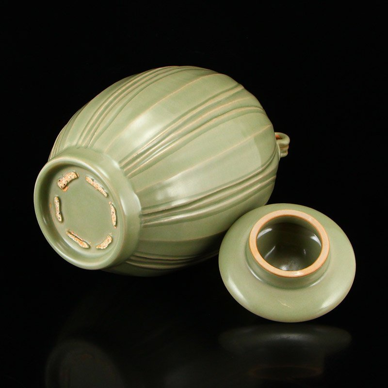 Chinese Song Dy Yue Kiln Porcelain Jar w Lid - 7