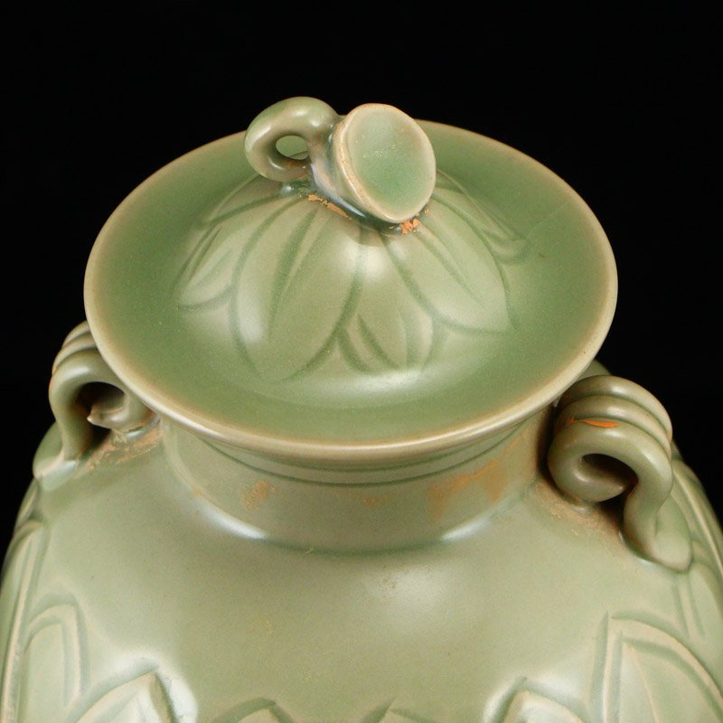 Chinese Song Dy Yue Kiln Porcelain Jar w Lid - 8