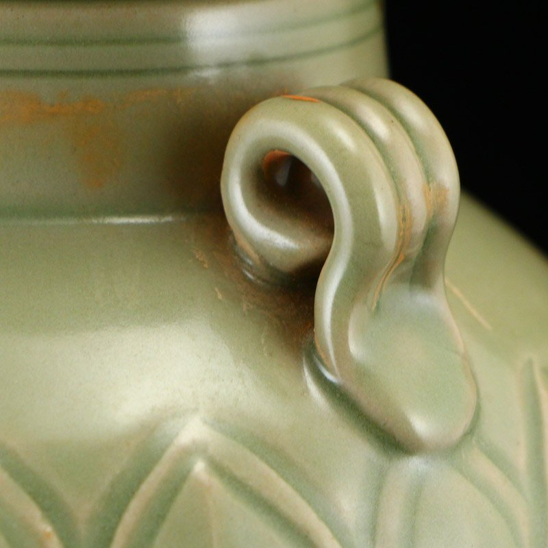 Chinese Song Dy Yue Kiln Porcelain Jar w Lid - 9