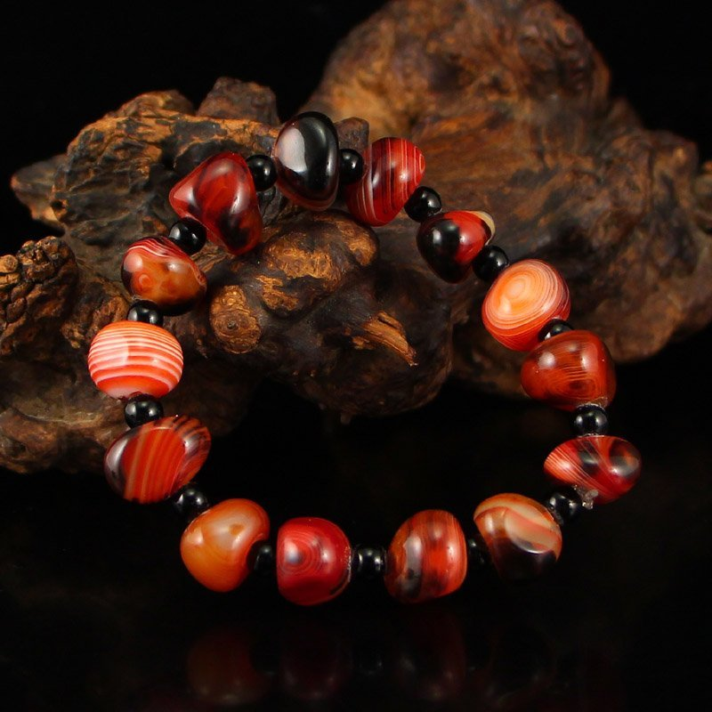 Chinese Natural Agate Beads Bracelet