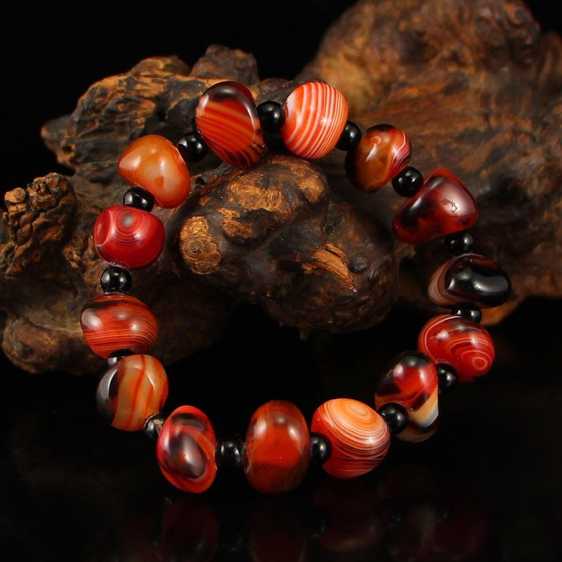 Chinese Natural Agate Beads Bracelet - 2