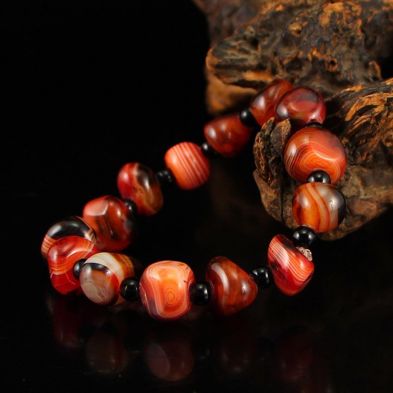 Chinese Natural Agate Beads Bracelet - 3