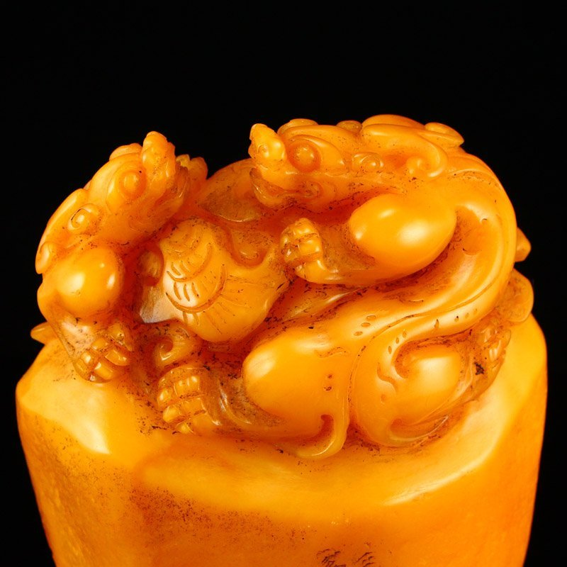 Chinese Shoushan Stone Tianhuang Stone Seal Statue - 6