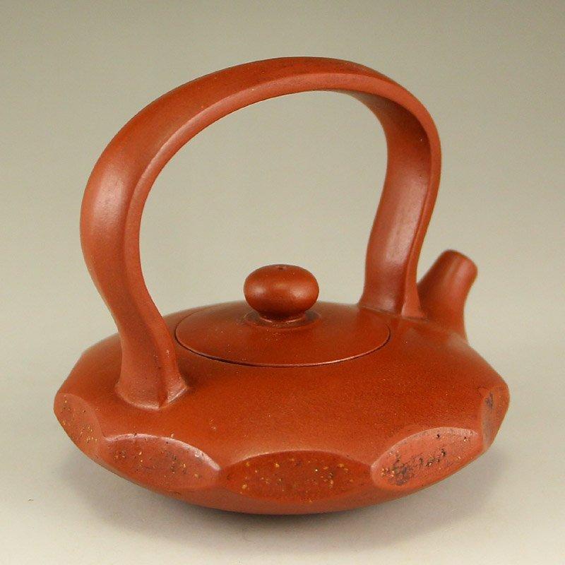 Chinese Yixing Zisha Clay Teapot w Artist Signed - 3