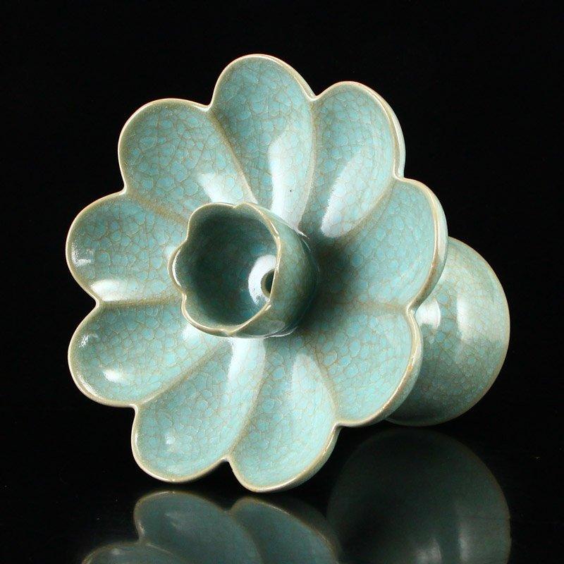 Song Dy Sky Blue Glaze Ru Kiln Porcelain Candlesticks - 10