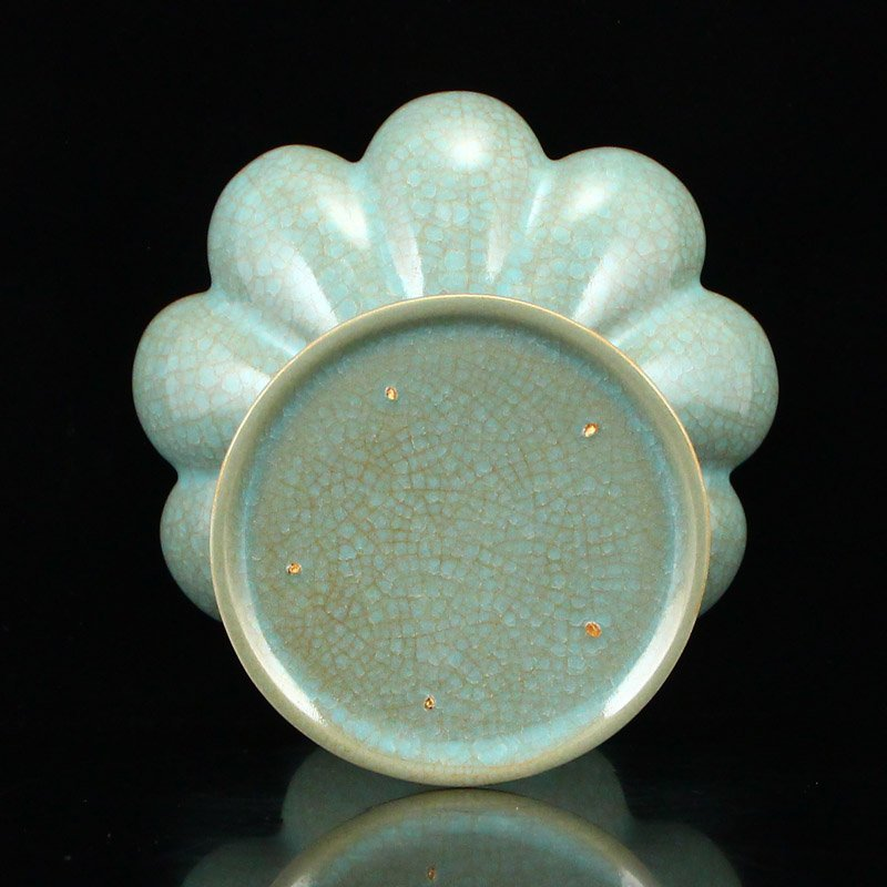 Song Dy Sky Blue Glaze Ru Kiln Porcelain Candlesticks - 9