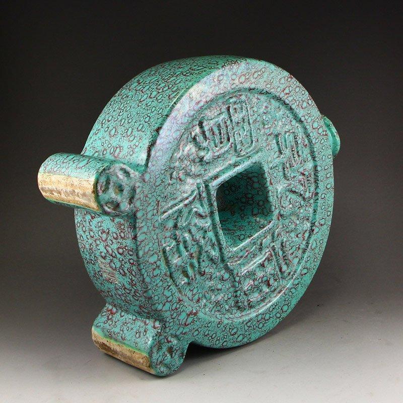 Chinese Turquoise Glaze Porcelain Vase - 6