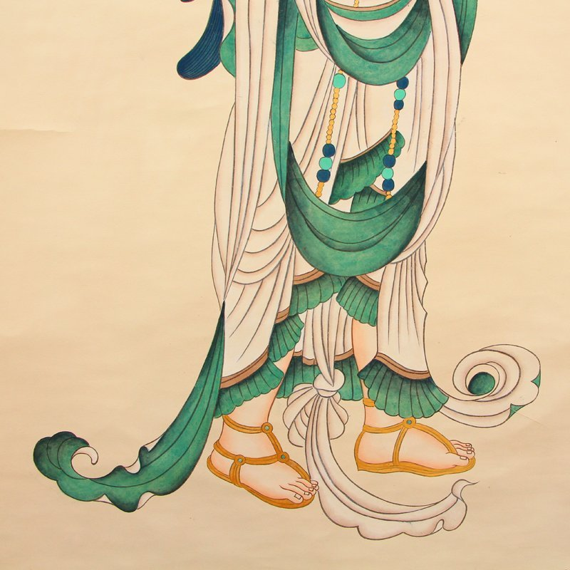 Chinese Watercolour on Xuan Paper Figure Painting - 5