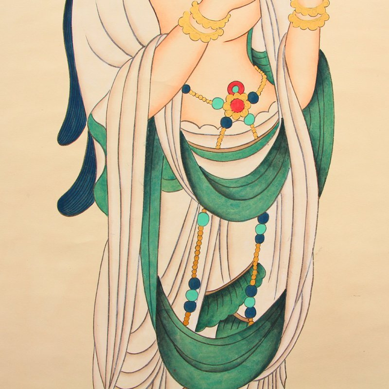 Chinese Watercolour on Xuan Paper Figure Painting - 7