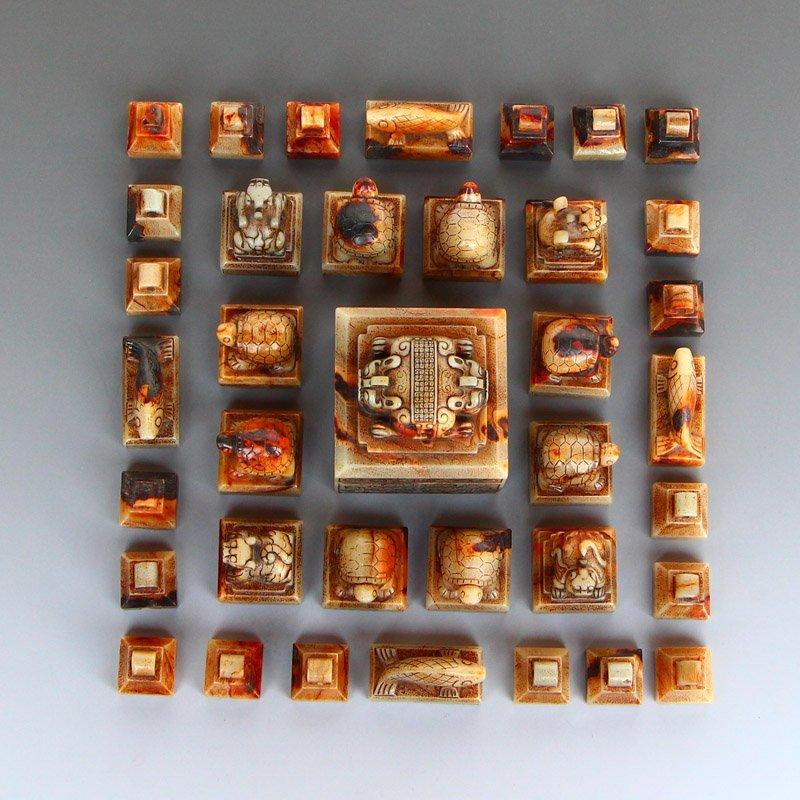 A Set 37 Pieces Chinese Han Dynasty Hetian Jade Seals - 5