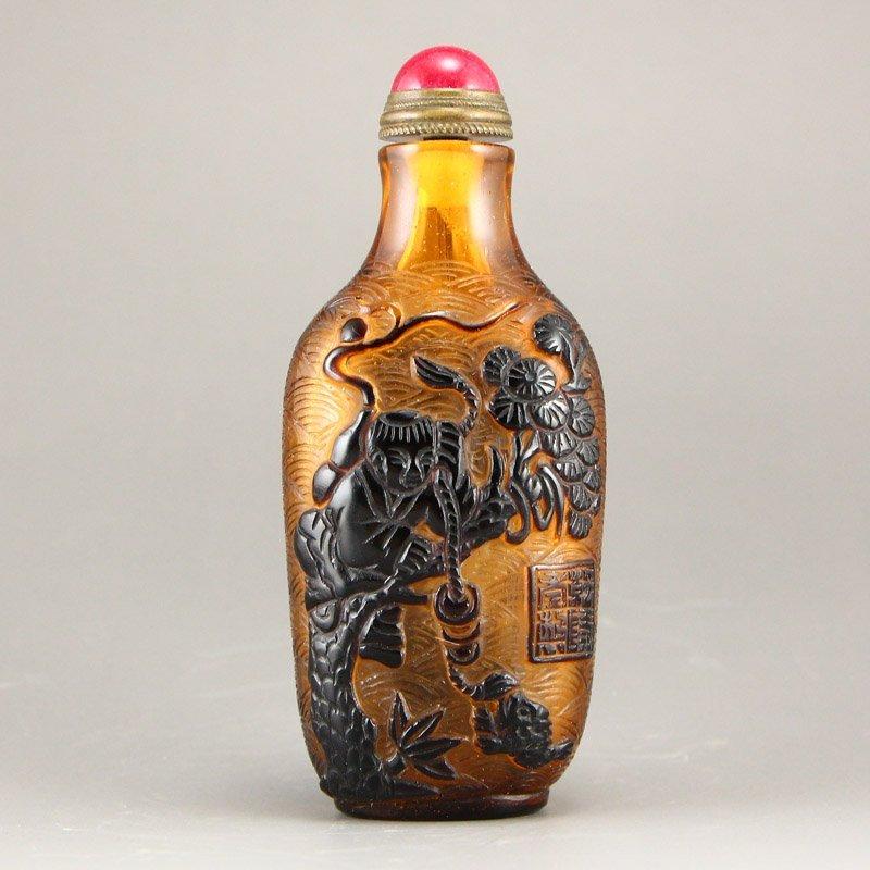 Chinese Qing Dy Peking Glass Snuff Bottle