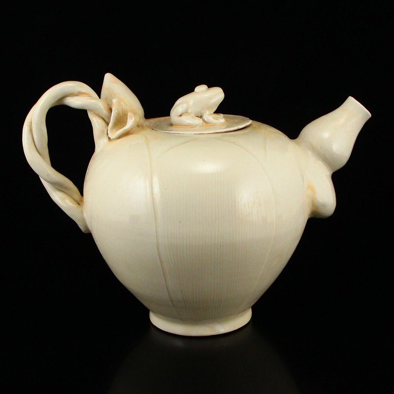 Beautiful Chinese Song Dy Ding Kiln Porcelain Teapot