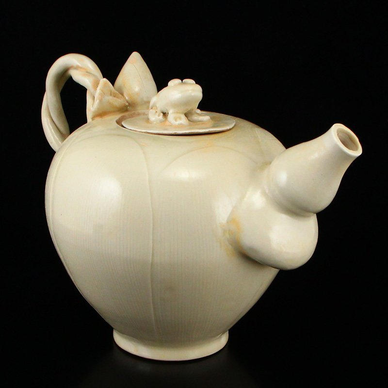 Beautiful Chinese Song Dy Ding Kiln Porcelain Teapot - 2