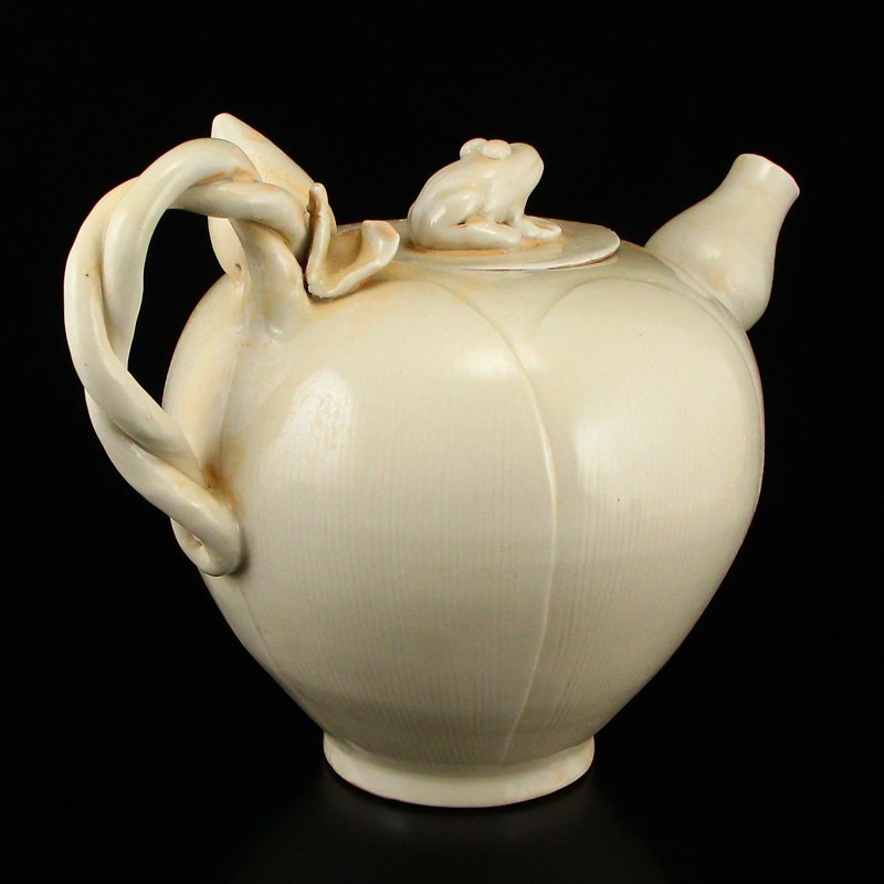 Beautiful Chinese Song Dy Ding Kiln Porcelain Teapot - 3