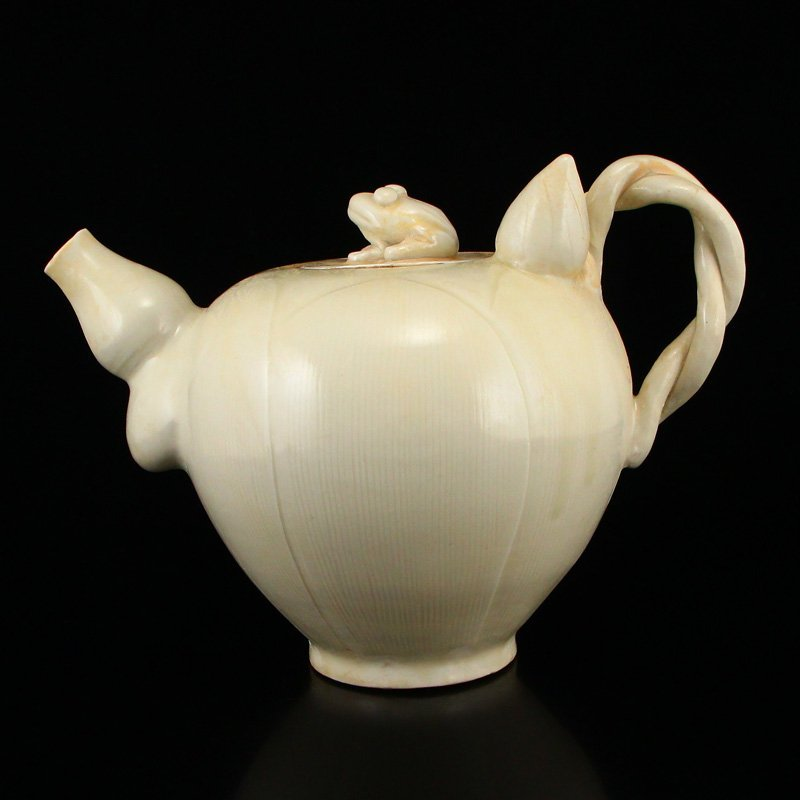 Beautiful Chinese Song Dy Ding Kiln Porcelain Teapot - 4