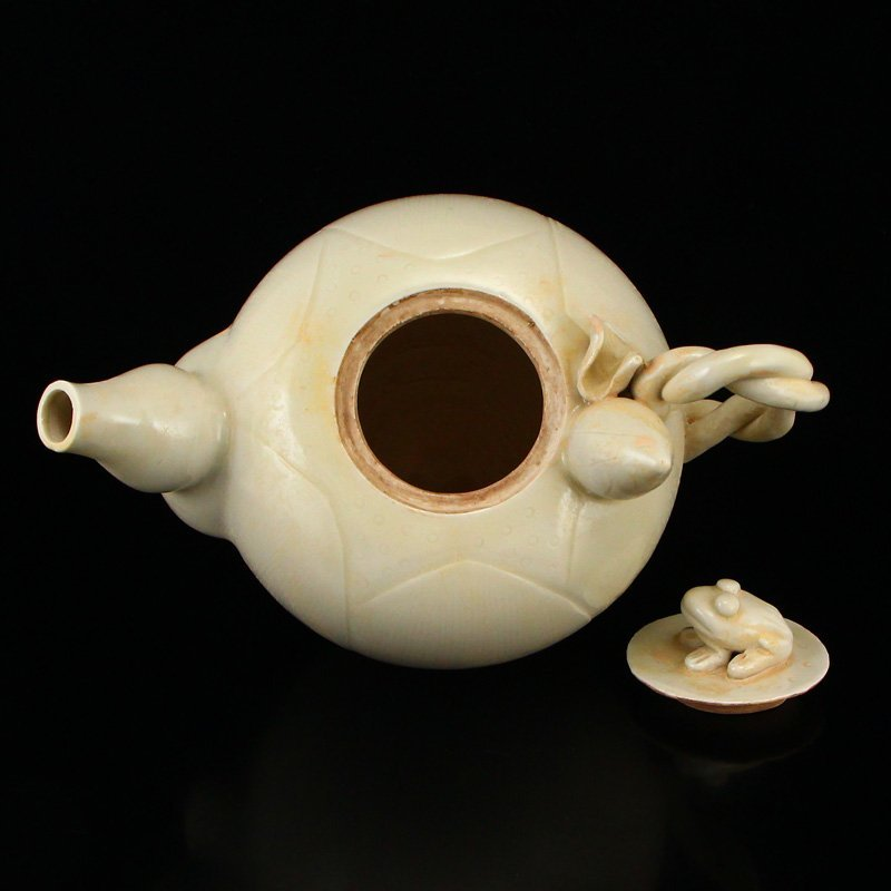 Beautiful Chinese Song Dy Ding Kiln Porcelain Teapot - 5