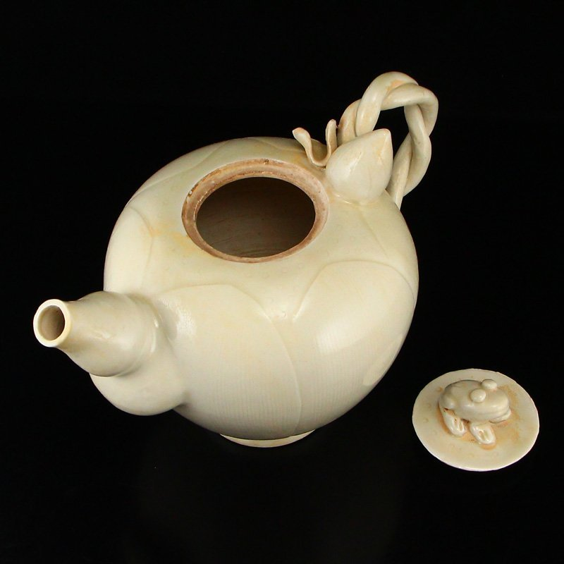 Beautiful Chinese Song Dy Ding Kiln Porcelain Teapot - 7