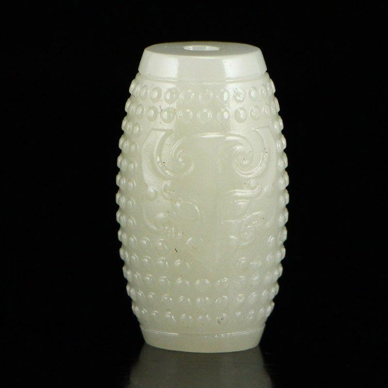 Chinese Hetian Jade Lucky Pendant - 4