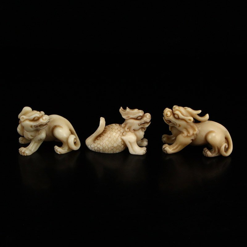 Vintage Shoushan Stone Statue - Dragon's Nine Sons - 6