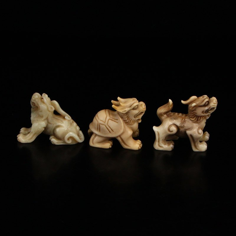 Vintage Shoushan Stone Statue - Dragon's Nine Sons - 9