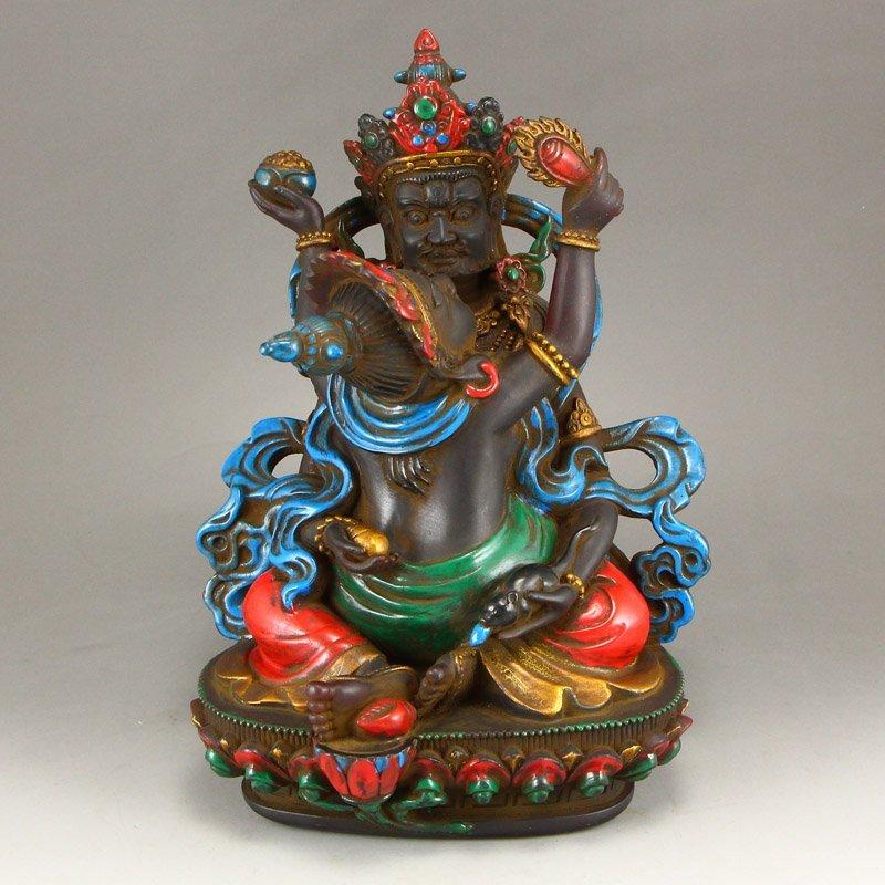Gilt Gold Coloured Peking Glass Mandkesvara Statue