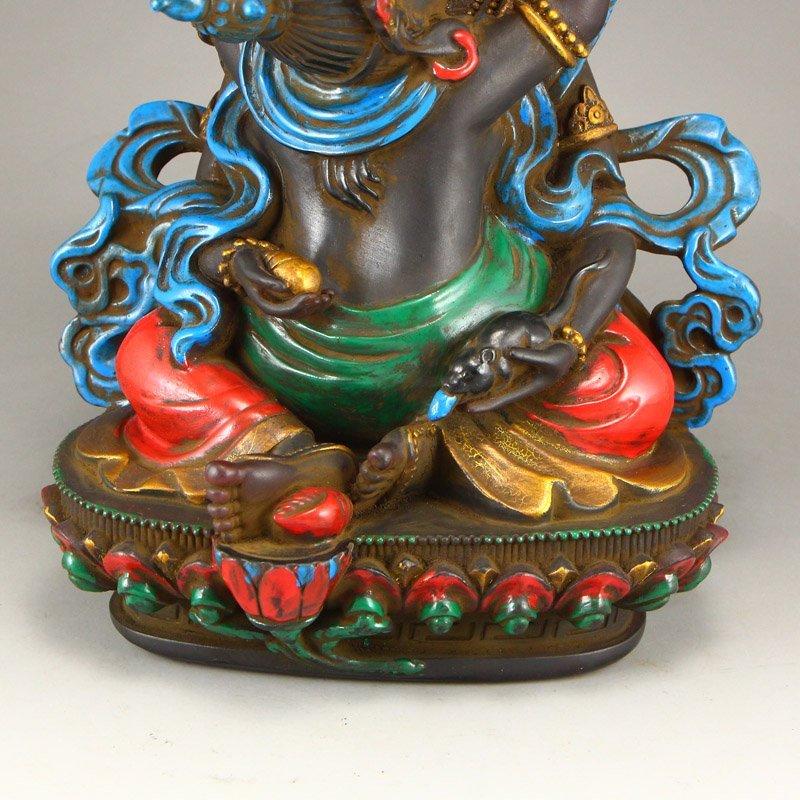 Gilt Gold Coloured Peking Glass Mandkesvara Statue - 9