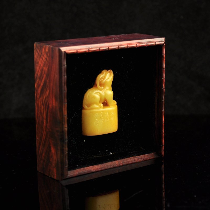 Shoushan Stone Tianhuang Stone Fortune Beast Seal - 8