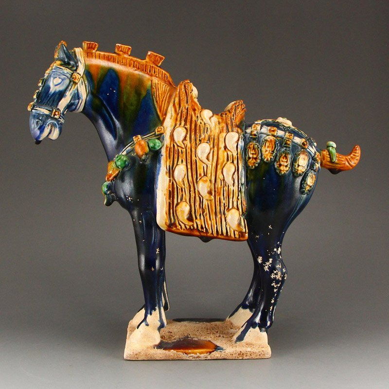 Chinese Tang Sancai Porcelain Statue - Horse