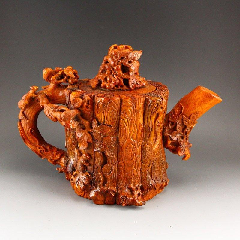 Chinese Ming Dy Deer Horn Big Teapot Statue
