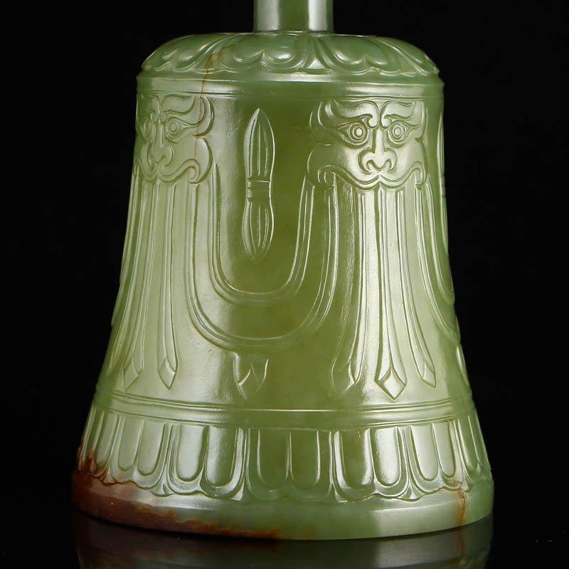 Chinese Qing Dy Hetian Jade Buddhism Prayer Bell - 10