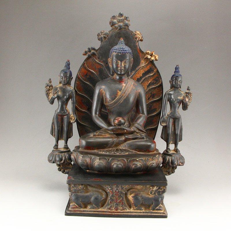 Beiwei Period Gilt Gold Bronze Siddhartha Buddha Statue