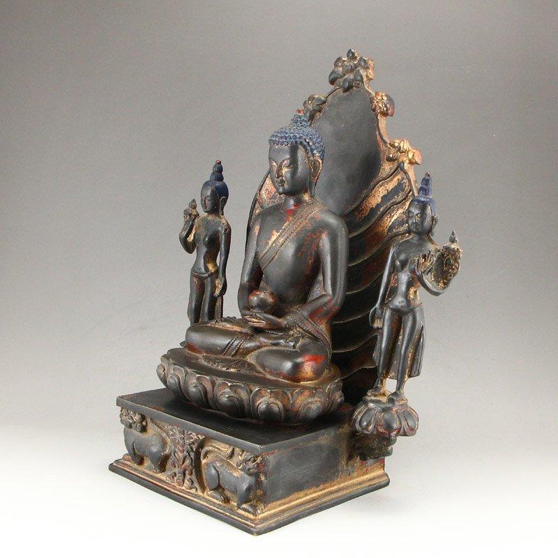 Beiwei Period Gilt Gold Bronze Siddhartha Buddha Statue - 3