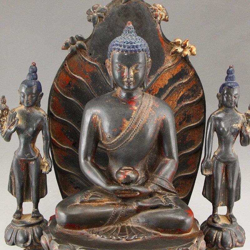 Beiwei Period Gilt Gold Bronze Siddhartha Buddha Statue - 5