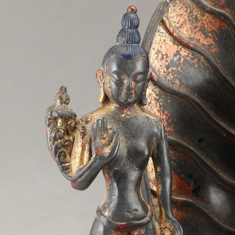 Beiwei Period Gilt Gold Bronze Siddhartha Buddha Statue - 7