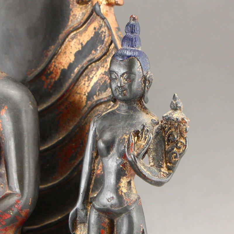 Beiwei Period Gilt Gold Bronze Siddhartha Buddha Statue - 8