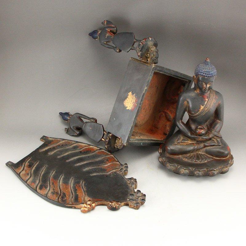 Beiwei Period Gilt Gold Bronze Siddhartha Buddha Statue - 9